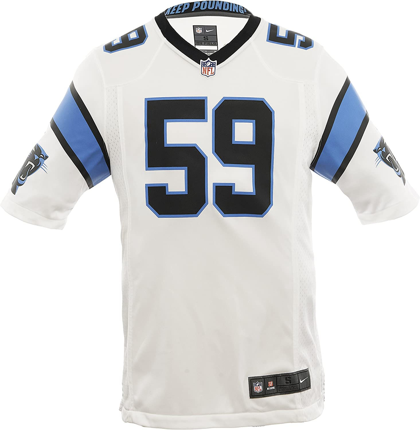 white carolina panthers shirt