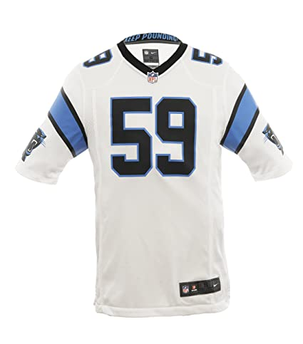 Amazon.com   Nike NFL Carolina Panthers Luke Kuechly Jersey White ... 21548988c