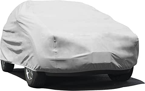 """Budge UB-0 Lite Indoor Dustproof UV Resistant Cover Fits Full Size SUVs up to 162"""", Gray"""