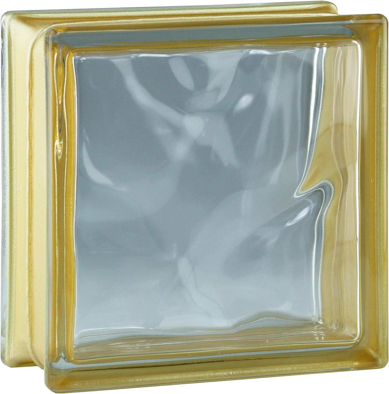 Bloques de vidrio mamparas de ducha JUEGO COMPLETO 78x195 cm – nube reflex oro brillante 19x19x8 cm – diferentes versiones disponibles: Amazon.es: Bricolaje y herramientas
