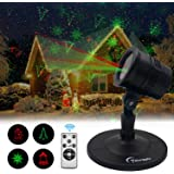 ntrakon Christmas Laser Lights Outdoor Projector - Marggle Laser Red & Green Lights Combine with Wireless Remote Control, for Christmas Holiday and Garden Show Decoration