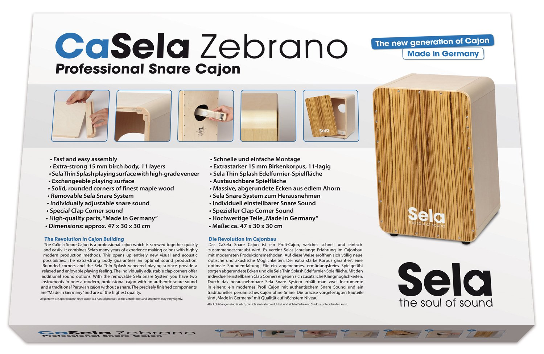 Sela CaSela SE 002A Caj/ón Satin Nut Assembl/é avec syst/ème snare /à retirer