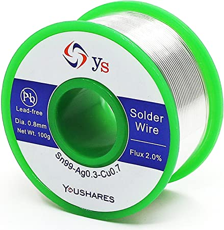 Solder Wire Lead Free Soldering W Rosin Core For Electrical Sn99 Ag0.3 Cu0 0.8Mm