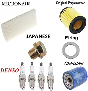 Tune Up Kit Plugs Cabin Air Oil Filters for Honda CR-V 2.4L 2002