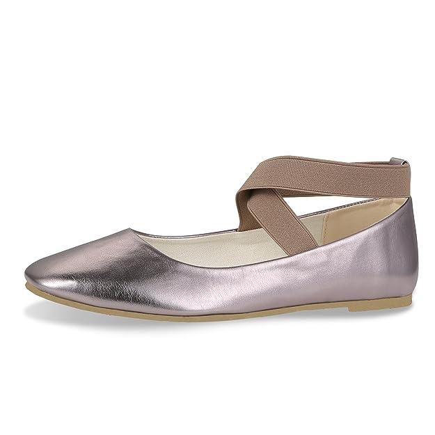 CINAK Comfortable Classic Flats Womens Shoes Black Walking