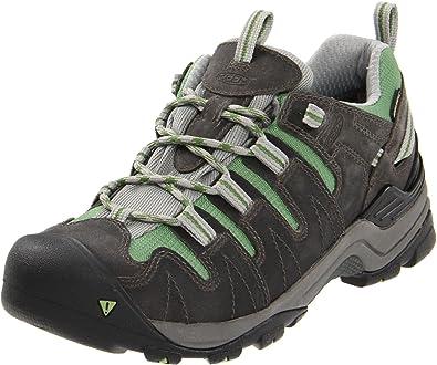 KEEN Women's Gypsum Hiking Shoe,Neutral Grey/Jade Green,7 ...