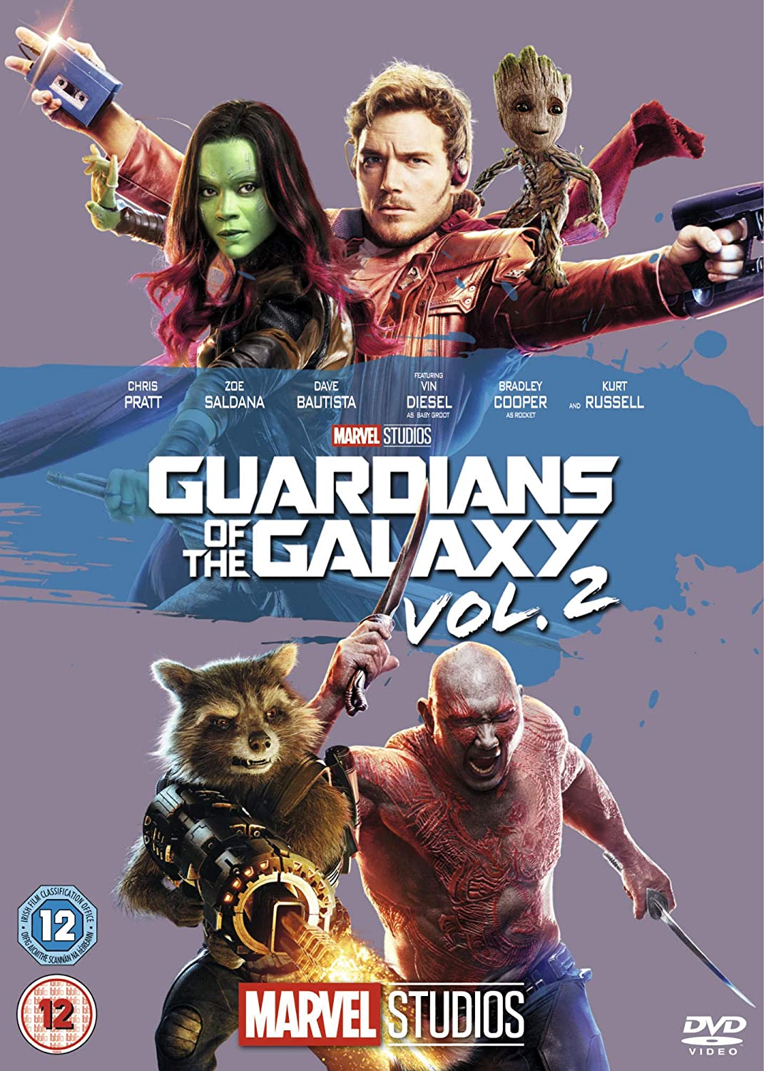 d845618a Guardians of the Galaxy Vol. 2 [DVD] [2017]: Amazon.co.uk: Chris Pratt, Zoe  Saldana, Dave Bautista, Vin Diesel, Bradley Cooper, Michael Rooker, Karen  Gillan ...