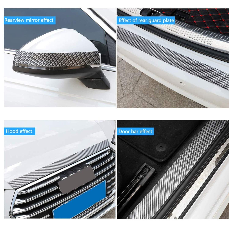 Black, 5cm*300cm 300cm*5cm//7cm Car Sill Protectors Strips,Carbon Fibre Car Door Guard Bumper Protector Transparent Car Sticker Protectors