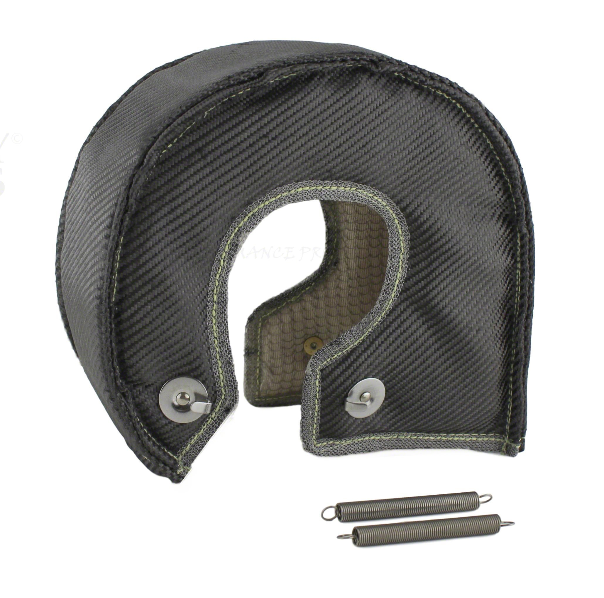 JCP Mesh Lined Titanium Turbo Blanket Heat Shield With Stainless Steel Ties (Black, LT4ML) by JC PERFORMANCE PRODUCTS USA