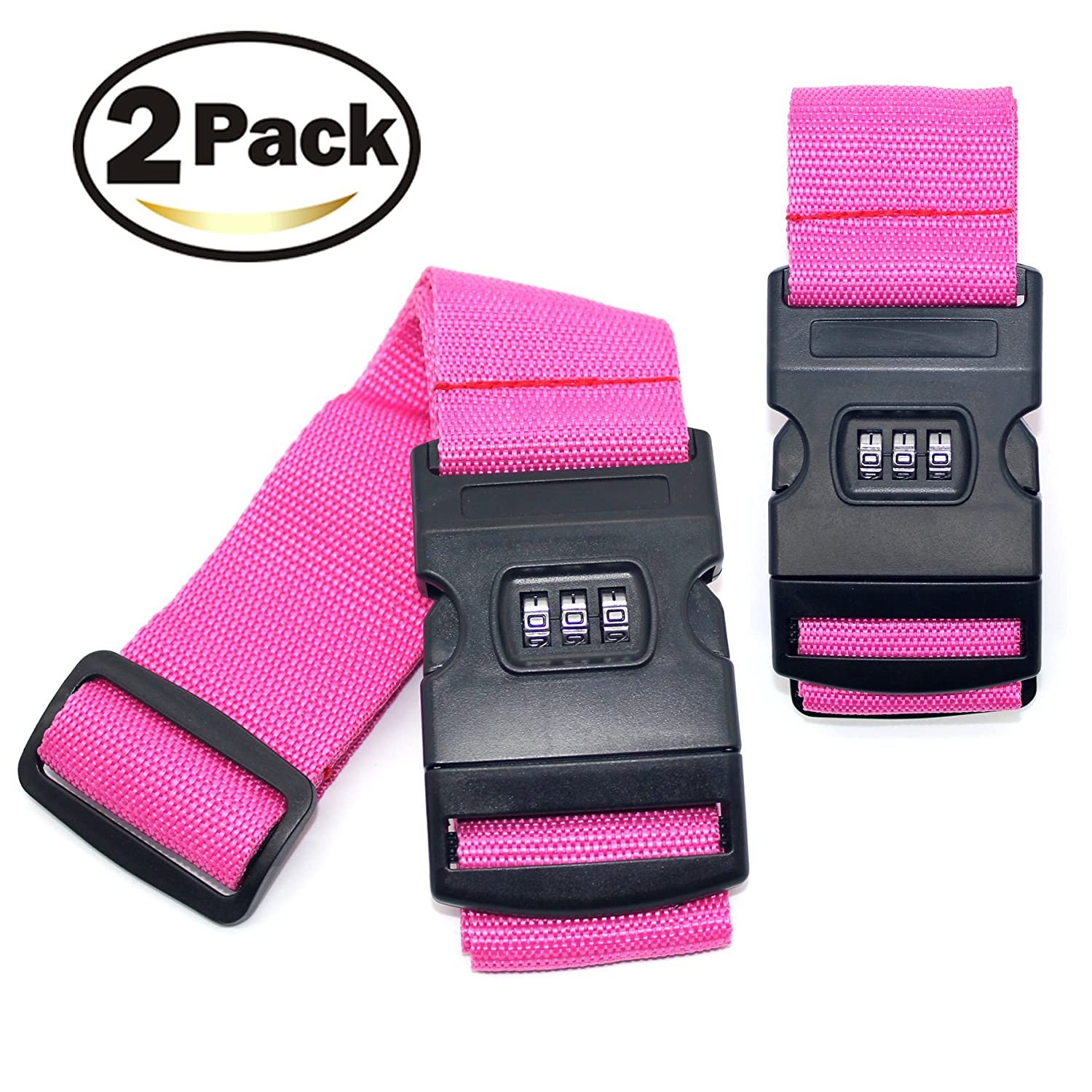 2E·You Luggage Straps, Suitcase Belts Travel Bag Accessories with 3 Digit Lock 2E·You Luggage Straps BYAWB160