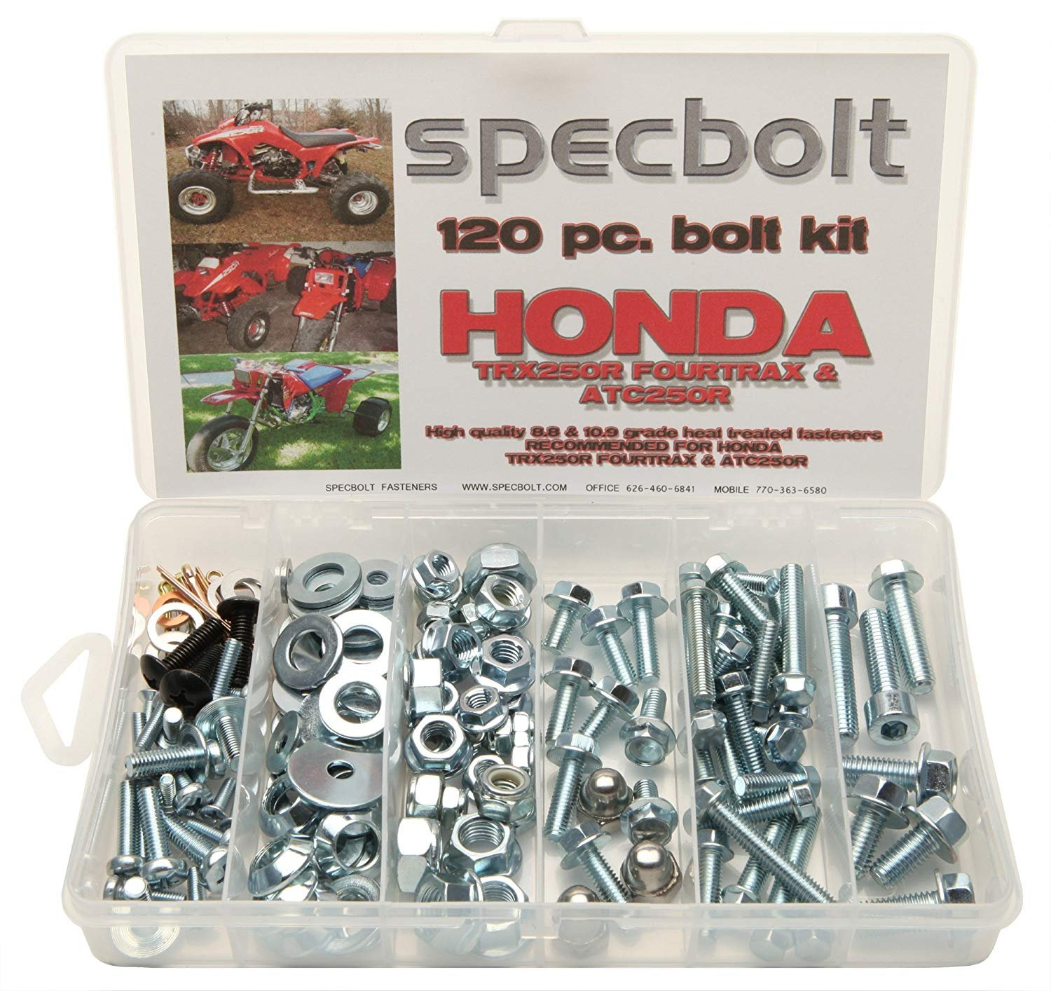 Specbolt Fasteners Brand 150pc Bolt Kit for Honda TRX250R Fourtrax ATC250R Quad 3 wheelers TRX ATC 250R