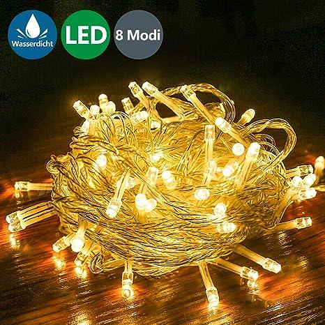 1-10M 10-100LEDs Lichterketten Schlafzimmer Warmweiß Dekolicht Weihnachtsbaum
