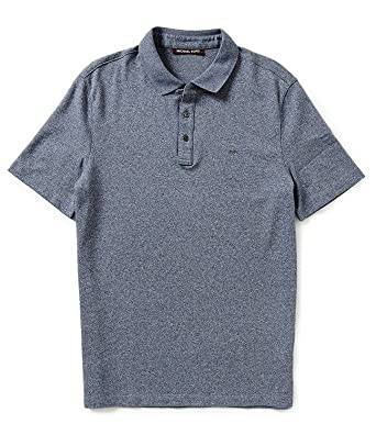 06306078 MICHAEL Michael Kors Men's Liquid Short Sleeve Polo Shirt (Black Jasper,  Small) at Amazon Men's Clothing store: