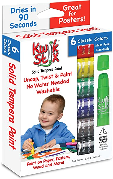 12 Pack TPG The Pencil Grip Kwik Stix Solid Tempera Paint Super Quick Drying
