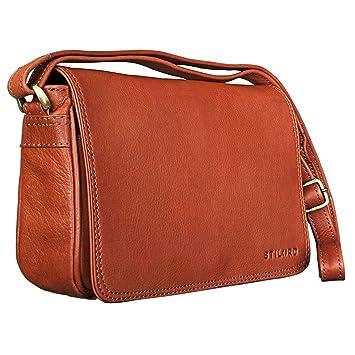 3e6d749b6f154 STILORD  Leana  Damen Umhängetasche Leder klein Vintage Handtasche viele  Fächer Elegante Ausgehtasche Vintage Echtleder