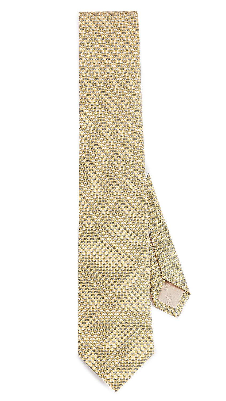 Salvatore Ferragamo Men's Energia Tie Yellow One Size Salvatore Ferragamo-Men's
