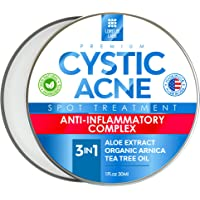Cystic Acne Spot Treatment for Face & Body – Natural Acne Scar Remover – Fast Acting Acne Breakout Cleanser | All Skin…
