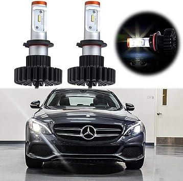 2x H7 LED Headlight Car Light Bulbs 110W 12000LM With Fan Super Bright 6000K