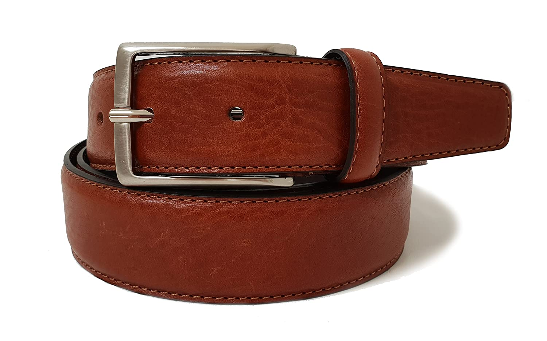 Cintura cuoio da uomo in Vera Pelle di qualit/à 100/% Made in Italy 35mm