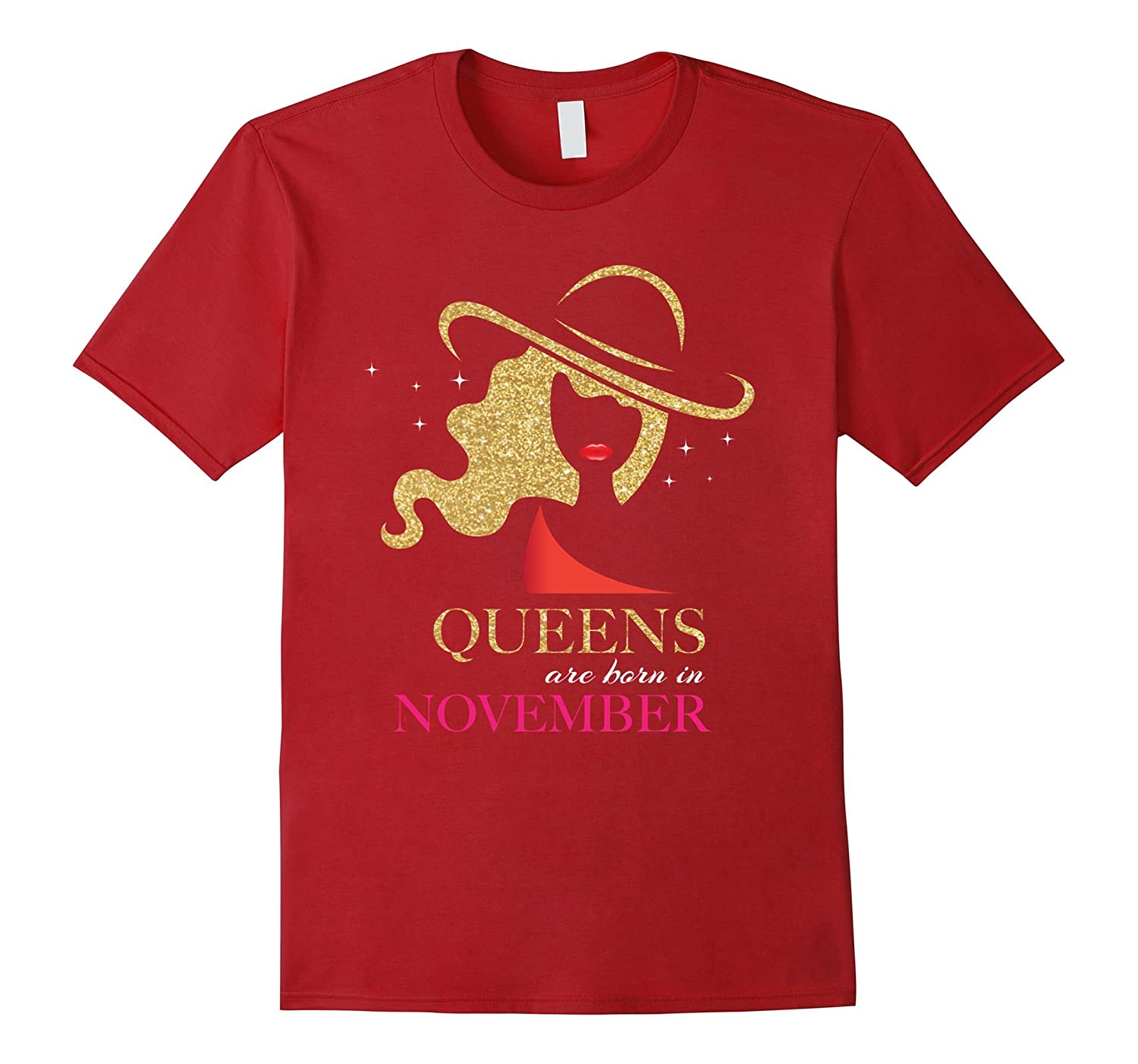 Queens are Born in November T-shirt -Women s and Girl s Gift-FL ... cf2bc9eba