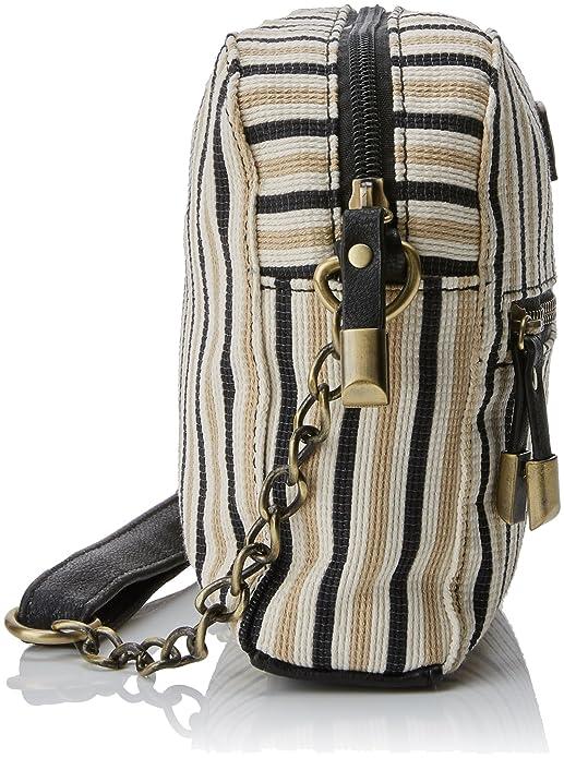 Pamela, Womens Cross-Body Bag, Beige (Rayas Beige), 7.5x14x21 cm (W x H L) Mtng