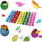 Assorted Colors Easter Dinosaur Grow Eggs, Pack of 60