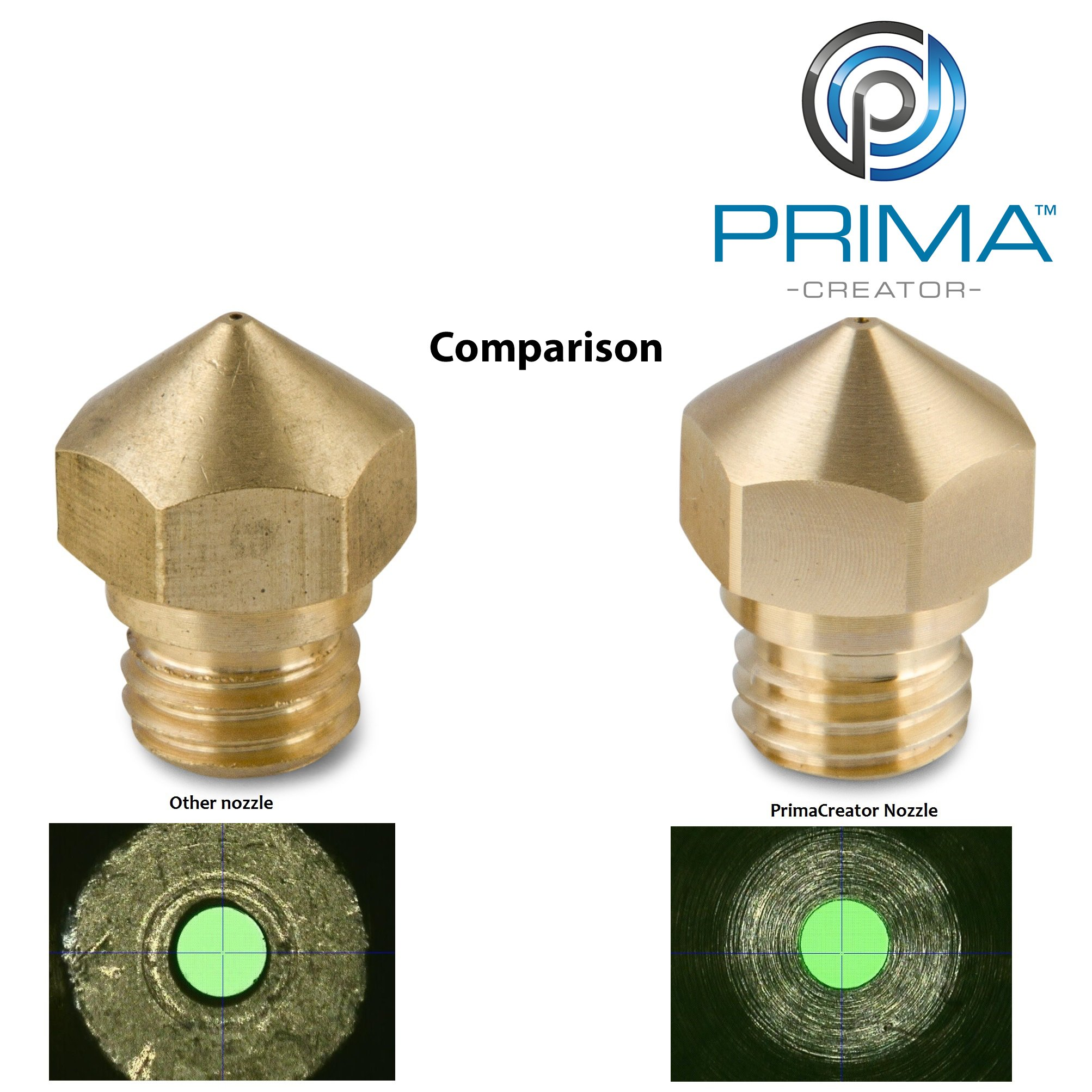PrimaCreator PC-NSP-04Hx1-MK10 MK10 Hardened Steel Nozzle 0,4 mm