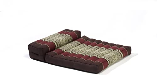 My Zen Home Dhyana Meditation Cushion, Brown Burgundy