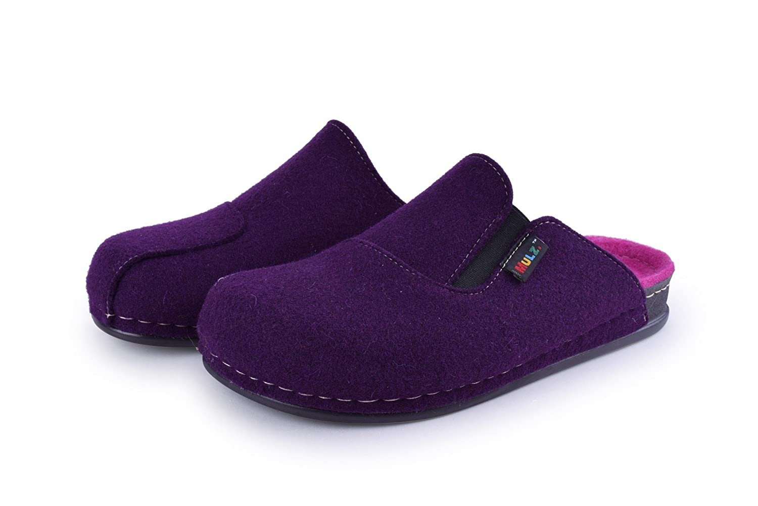 Mulz Size 6-13 Unisex House Shoes - Wool Indoor & Outdoor Slippers - Made in Europe B07BQL5FF2 8 (B)M US Women|Purple