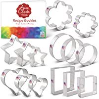 Ann Clark Cookie Cutters 14-Piece Basic Cookie Cutter Set with Recipe Booklet, Basic Cookie Cutters Set with Recipe Card…