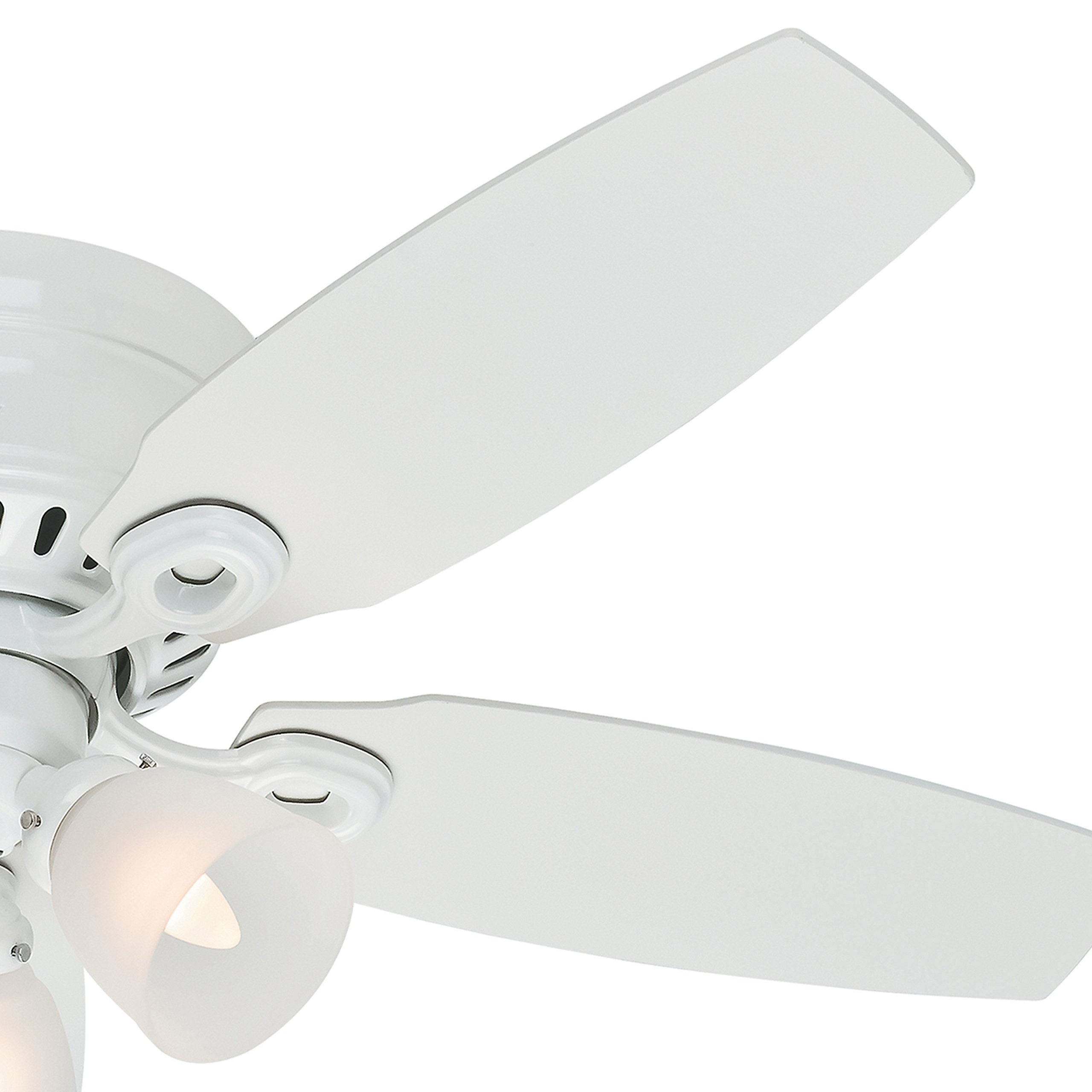 Hunter Fan 46'' Snow White Finish Ceiling Fan with Clear Frosted Glass Light Kit (Certified Refurbished) by Hunter Fan Company (Image #5)