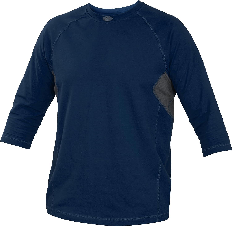 Rawlings Youth 3 / 4スリーブパフォーマンスシャツ B013I2K4VG XL ネイビー ネイビー XL