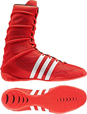 Amazon.com : adidas Adipower Olympic Red Boxing Shoes (US 5.5 ...