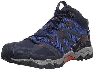Merrell Mens Grassbow Mid High Rise Hiking Shoes Blau NavyTahoe Blue