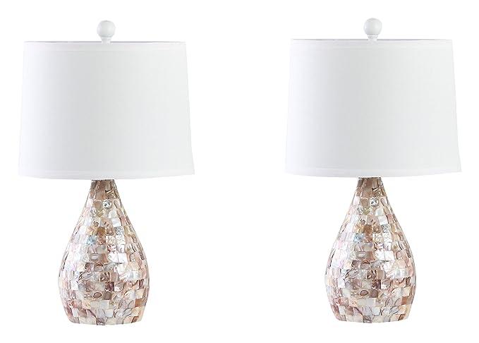Amazon.com: Inlay lámpara de mesa lámparas con crema ...