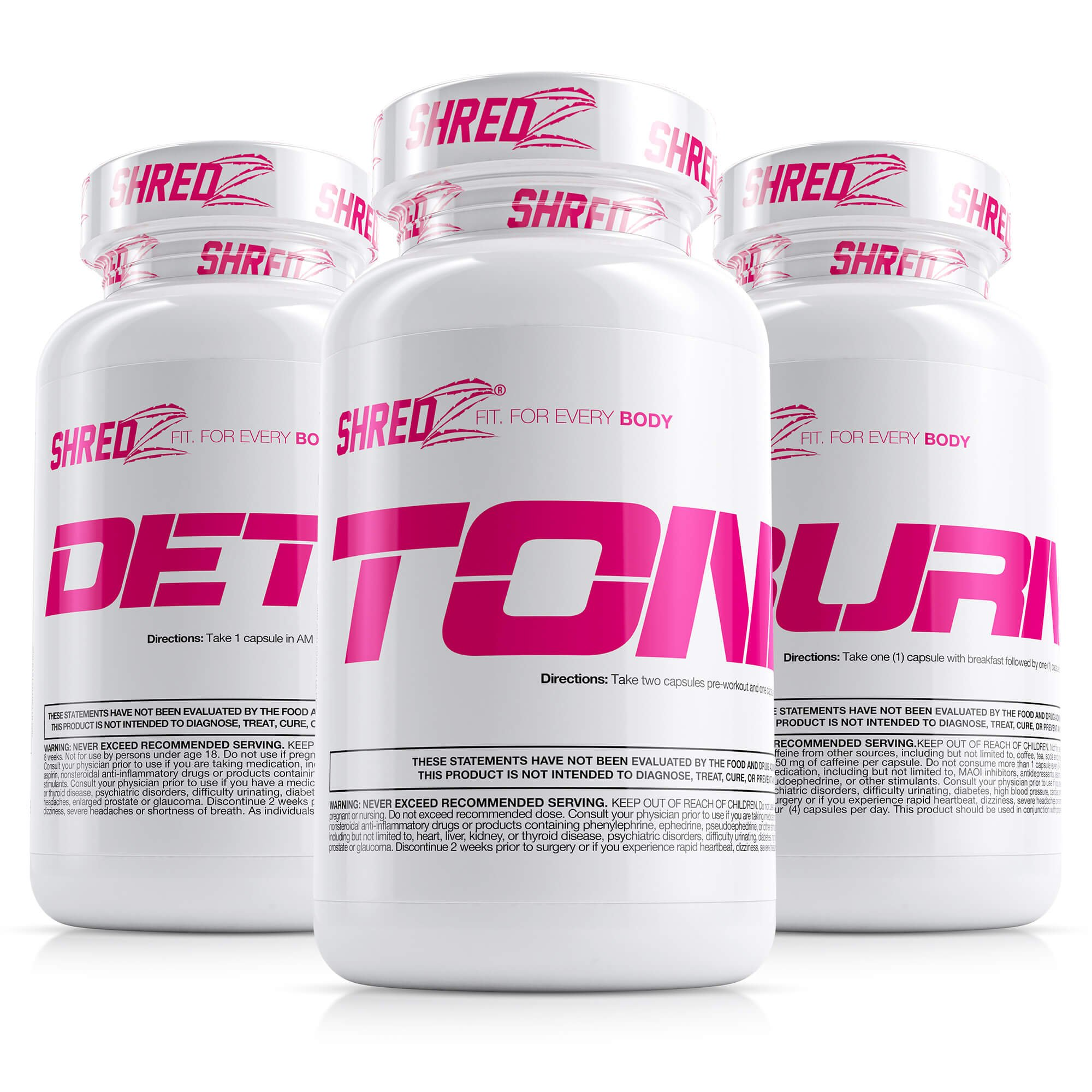 SHREDZ Alpha Female Weight Loss Supplements Stack for Women, Build Lean Muscle, Show Off Physique, Burn Fat (1 Month Supply)