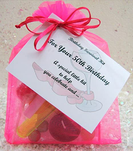 50th 60th 70th 80th Birthday Survival Kit For Her Fuchsia A Great