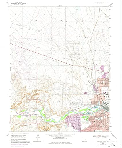 Amazon.com: Colorado Maps |1961 Northwest Pueblo, CO USGS Historical ...
