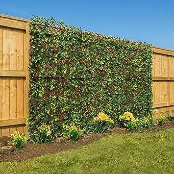 Ordinaire Christow Artificial Hedge Flower Garden Screening Expanding Trellis Privacy  Screen 2 X 1m
