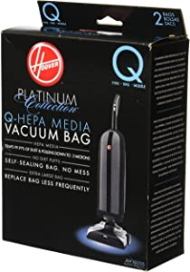 Hoover AH10000 Platinum Type-Q HEPA Vacuum Bag, 2 Count (Renewed)