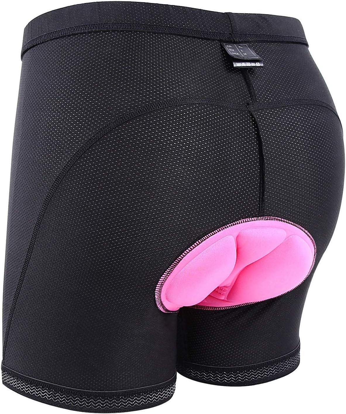Sportneer Pantalones Cortos de Ciclismo para Mujeres Pantalones Cortos Acolchados para Mujeres y niñas, para la práctica del Ciclismo, M - XXXL