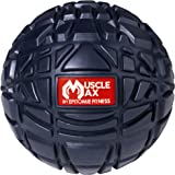 Muscle Max Massage Ball - Deep Tissue Massager For Trigger Point, Myofascial Release & Self Massage Comes With Travel Bag - Navy Blue