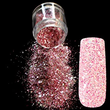 Amazon Sparkle Rose Red Glitter Nail Art Mix Size And Color