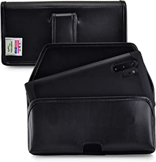 product image for Turtleback Holster Designed for Samsung Galaxy Note 10+ Plus (2019) Belt Case Black Leather Pouch with Executive Belt Clip, Horizontal Made in USA