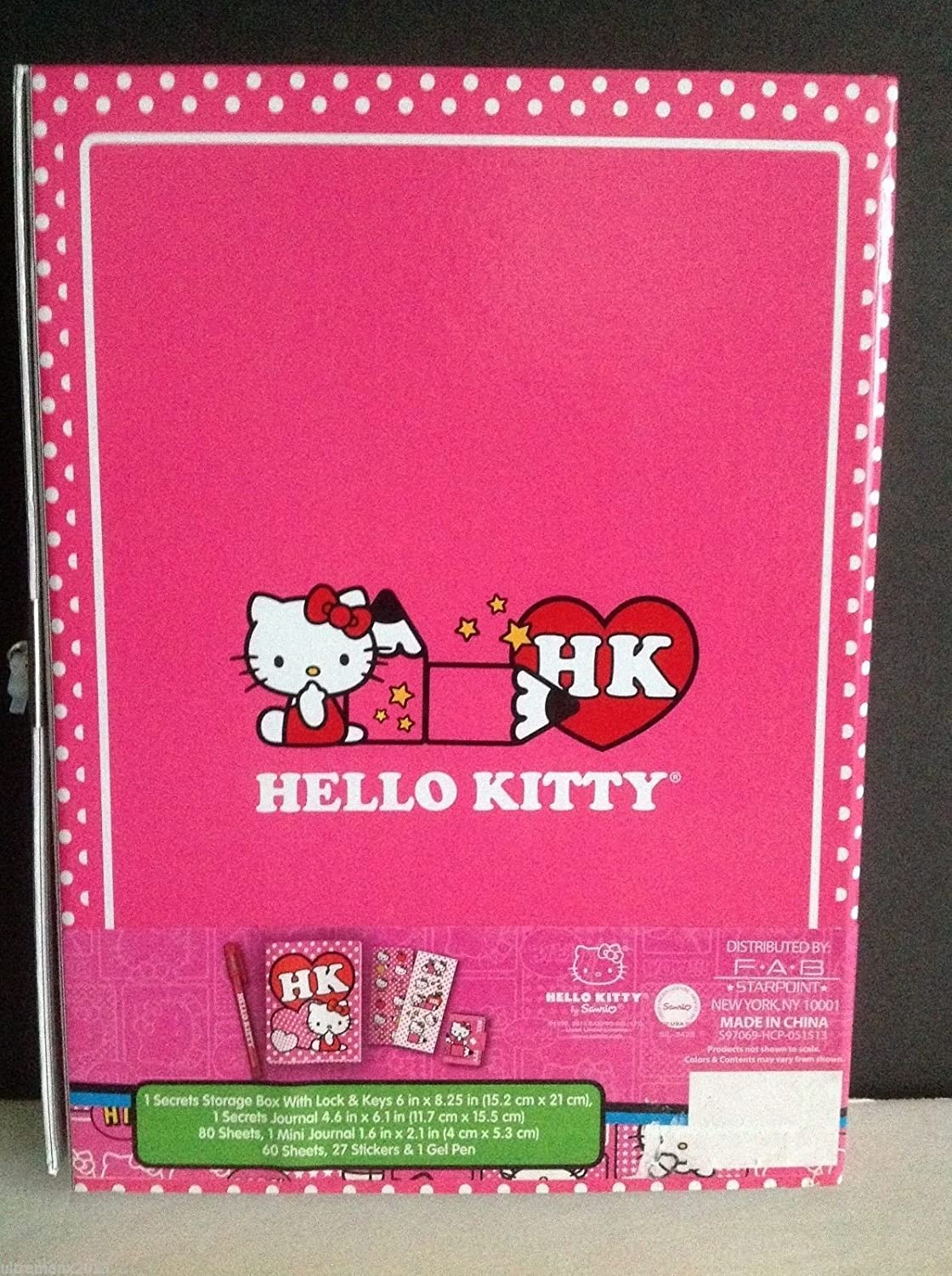 Hello Kitty Journal New for Sales 60 sheets with Gel Pen