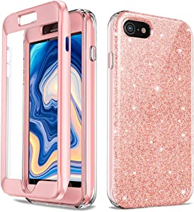 Case for iPhone 7, iPhone 8, iPhone SE Full Body Protective Case Heavy Drop Protection Shock Absorption Cover Case with Built-in Screen Protector for iPhone 7/8/SE, 4.7