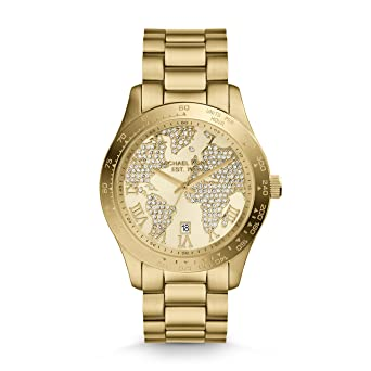 Michael Kors MK5959 Womens Layton Gold Crystal Dial Yellow Gold Steel Watch
