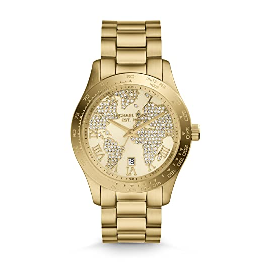 Amazon.com: Michael Kors MK5959 Womens Layton Gold Crystal Dial Yellow Gold Steel Watch: Michael Kors: Watches