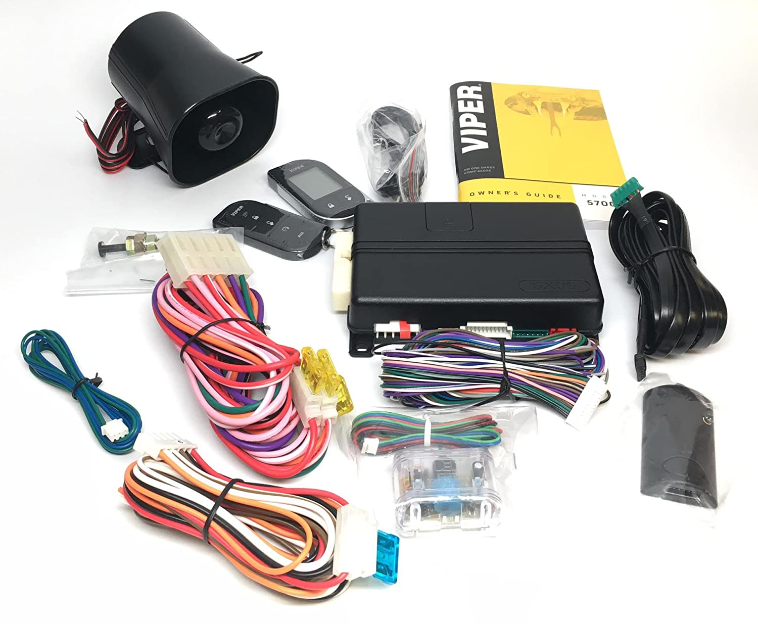 Click /& ADD Viper 5706V 2-Way LCD Alarm /& Remote Car Starter 1 Mile Range /& Directed DB3 XPressKit DEI Databus ALL Combo Bypass//Door Lock Interface Bundle Package