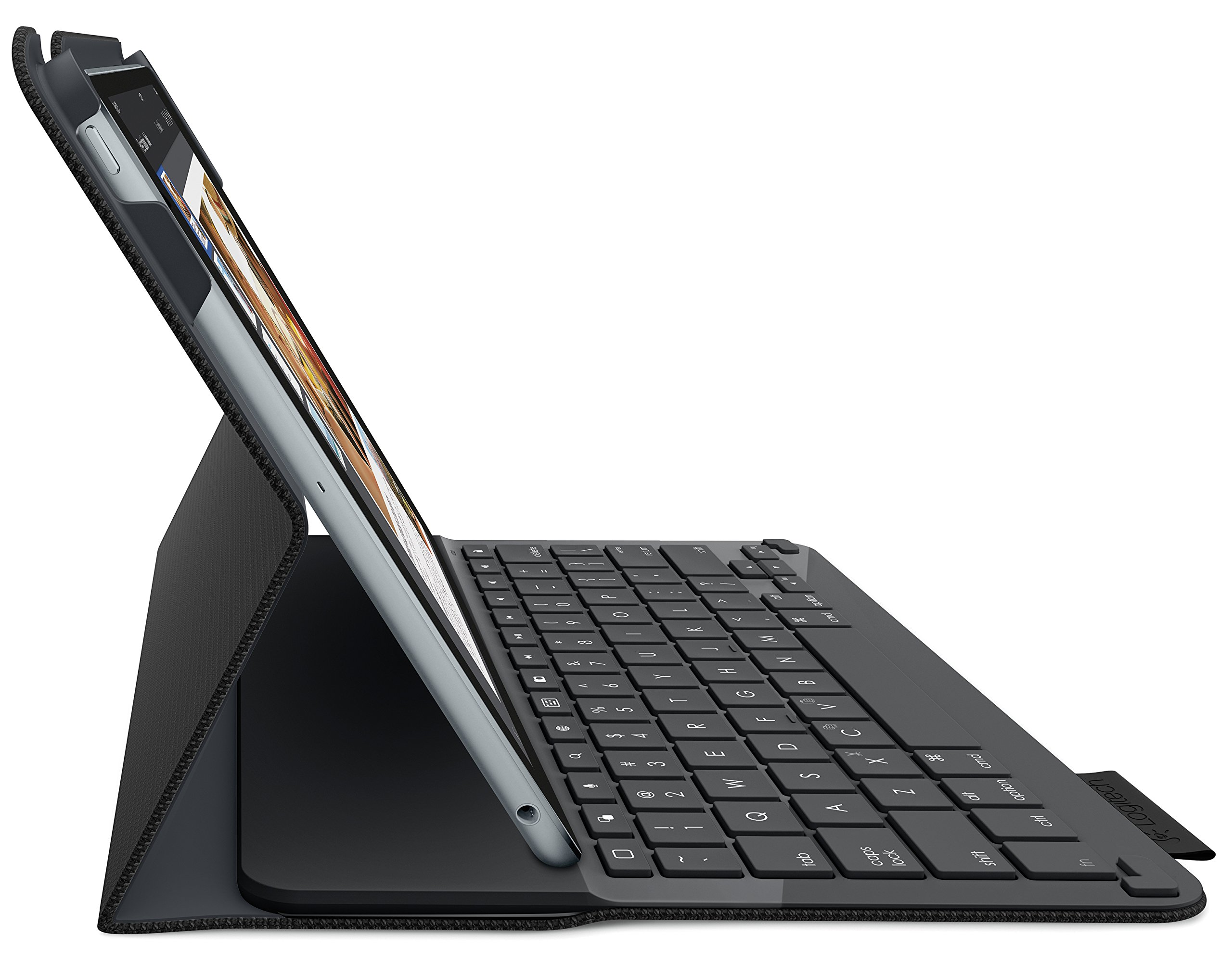 Logitech 920-006576 Protective Case with Integrated Keyboard for iPad Air 2 (Woven Black) by Logitech (Image #3)